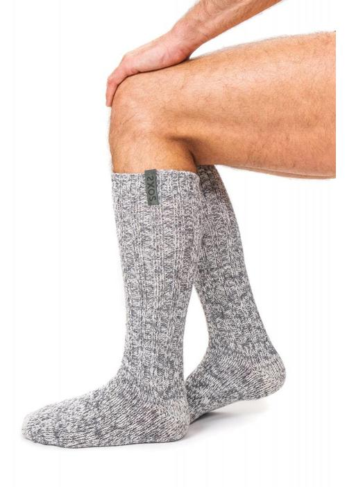 Soxs Soxs Men's Anti Slip Socks - Grey Green Knee High