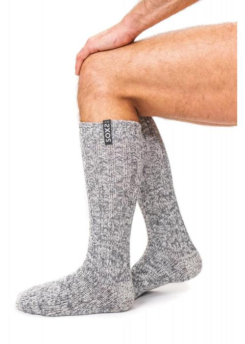 Soxs Soxs Men's Socks - Grey Knee High