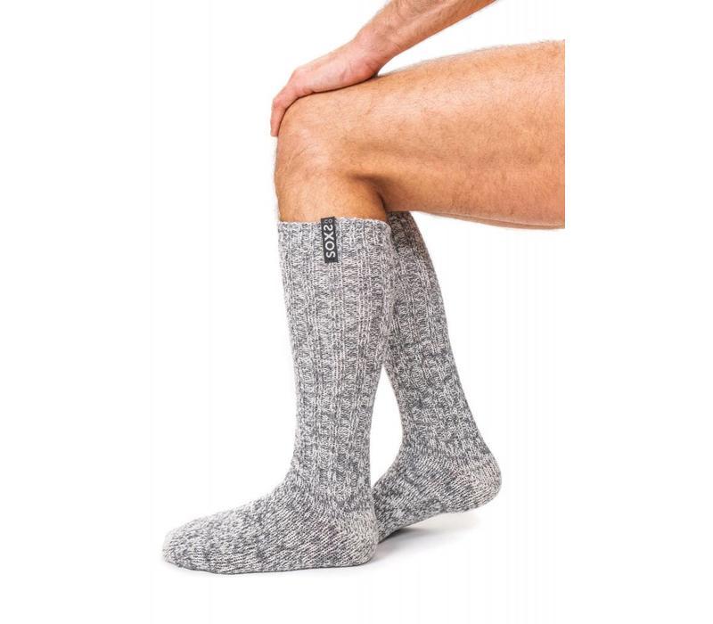 Soxs Men's Socks - Grey Knee High