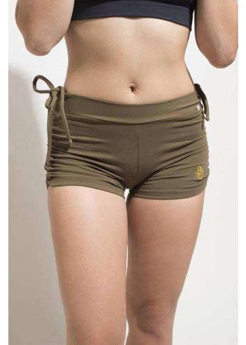 Shakti Activewear Shakti Activewear Side String Shorts - Deep Green