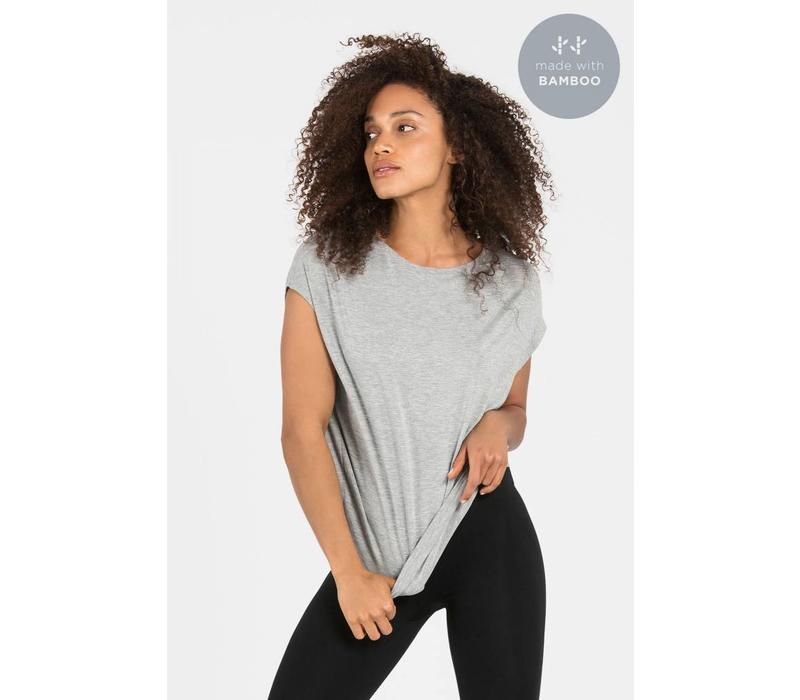Dharma Bums Luxe Layer Top - Grey Melange