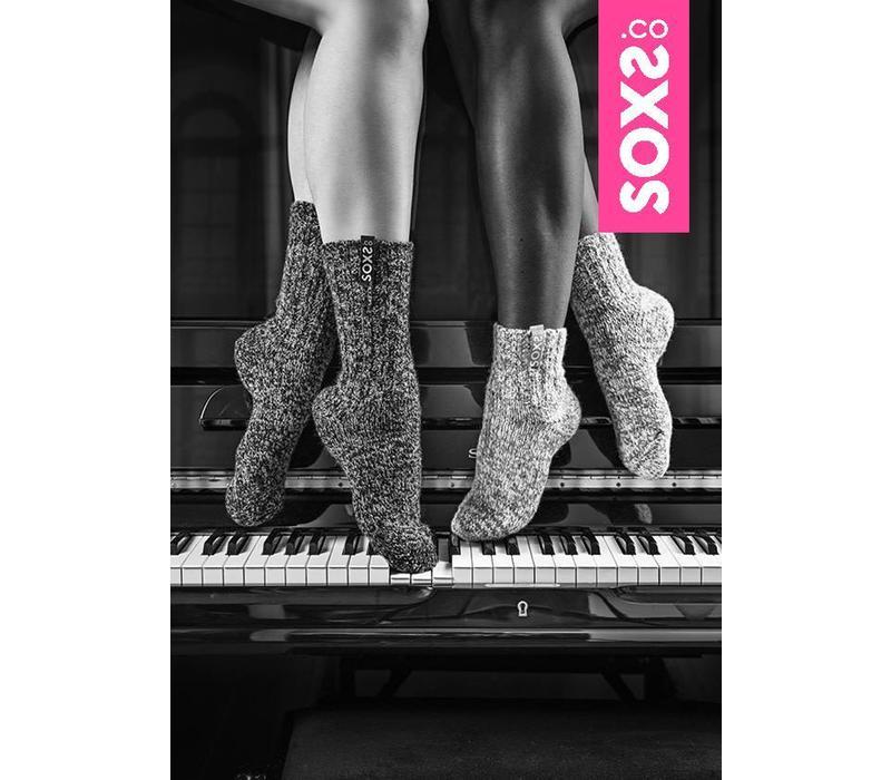 Soxs Dames Sokken - Grey Low XS