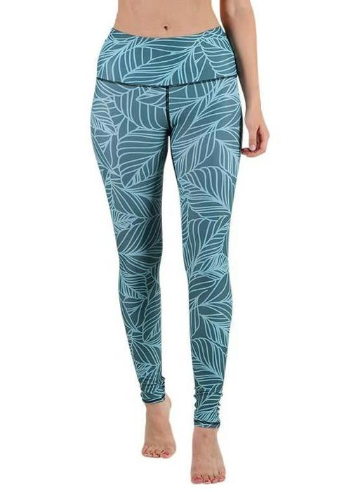 Yoga Democracy Yoga Democracy Yoga Legging - Urban Camo Teal