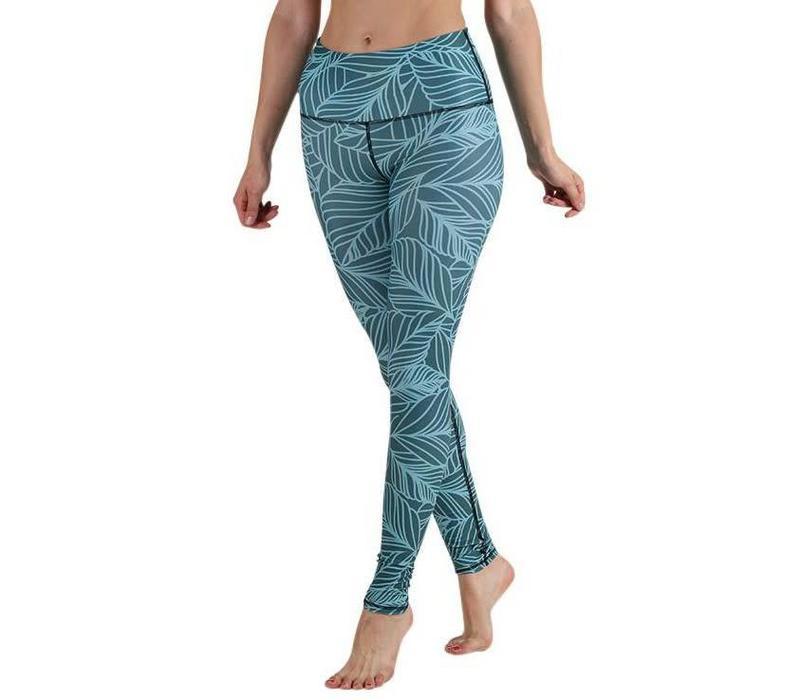 Yoga Democracy Yoga Legging - Urban Camo Teal