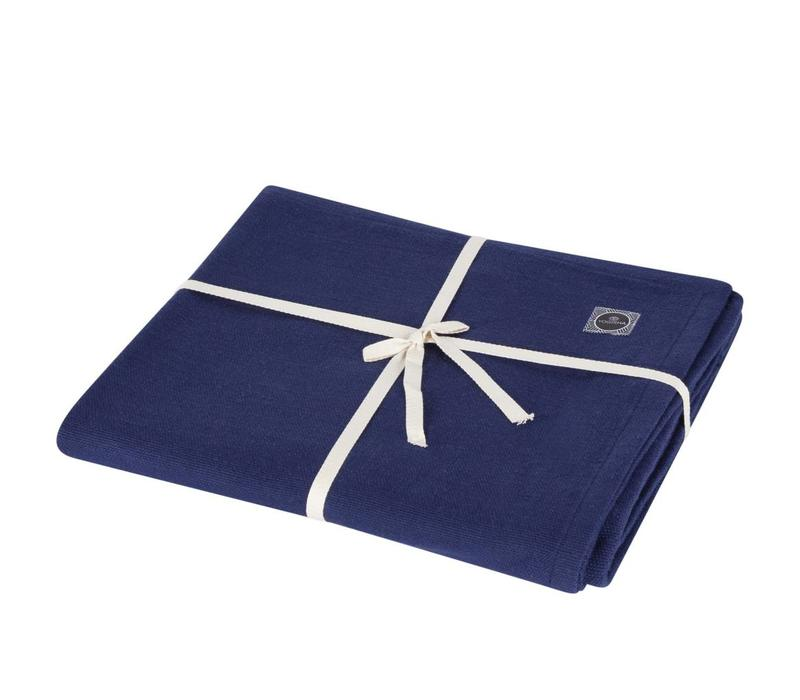 Yoga Blanket Organic Cotton - Dark Blue