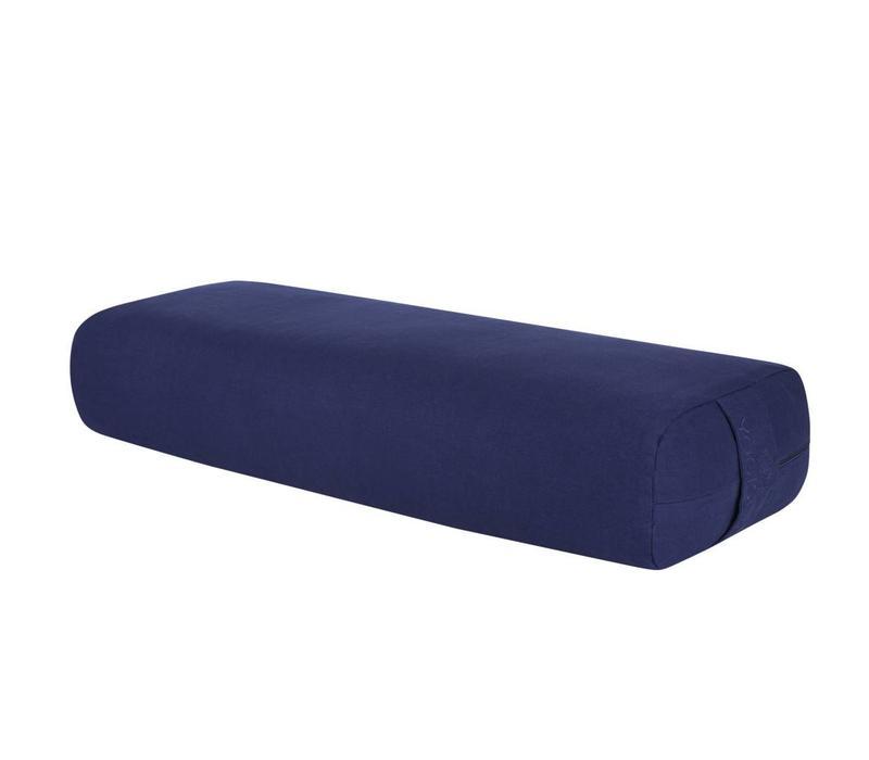 Yoga Bolster Rechthoekig Kapok - Donkerblauw