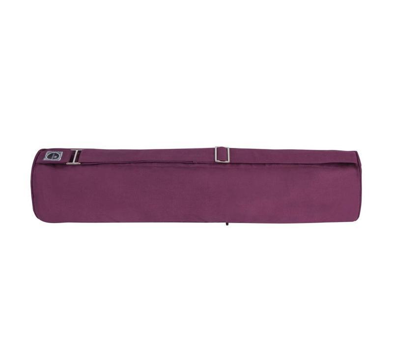 Zippered Yoga Mat Bag - Aubergine