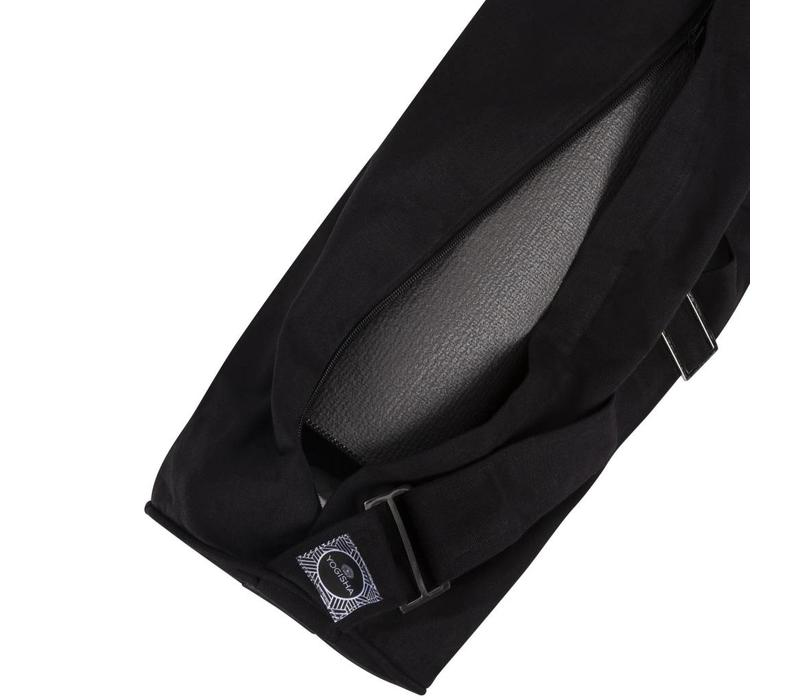 Zippered Yoga Mat Bag - Black