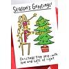 Che Dyer Yoga Ansichtkaart - Christmas Tree Lights
