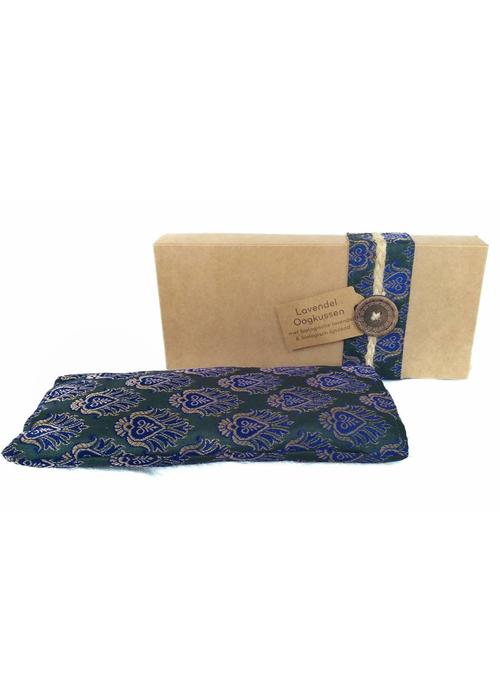 Kusala Kusala Eye Pillow Silk - Dark Green & Blue
