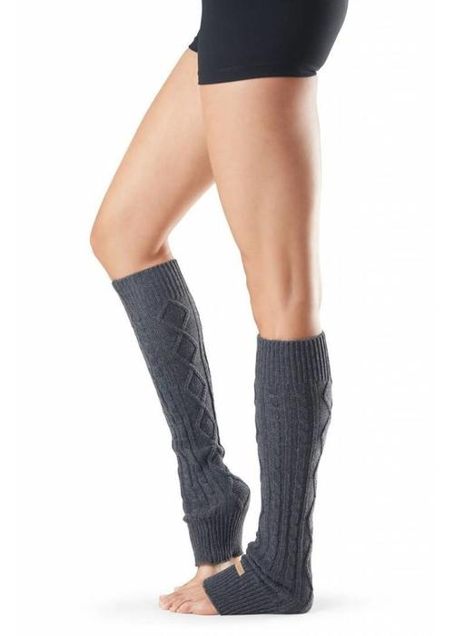 Toesox Toesox Leg Warmer Knee High - Charcoal