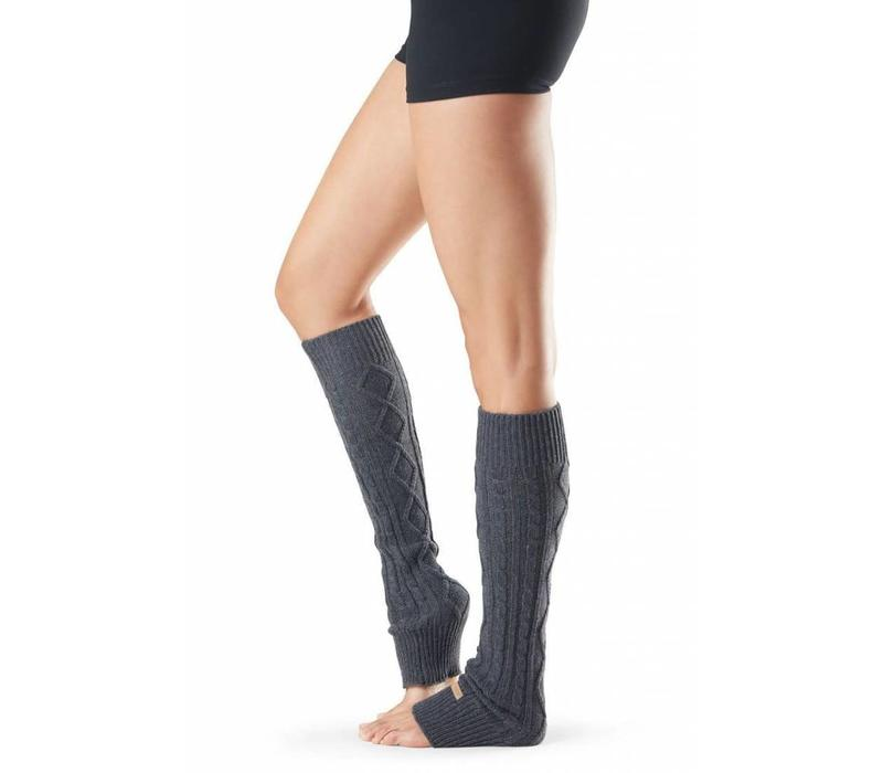 Toesox Beenwarmer Knee High - Charcoal