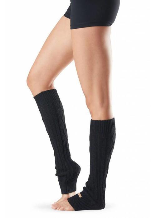Toesox Toesox Beenwarmer Knee High - Zwart