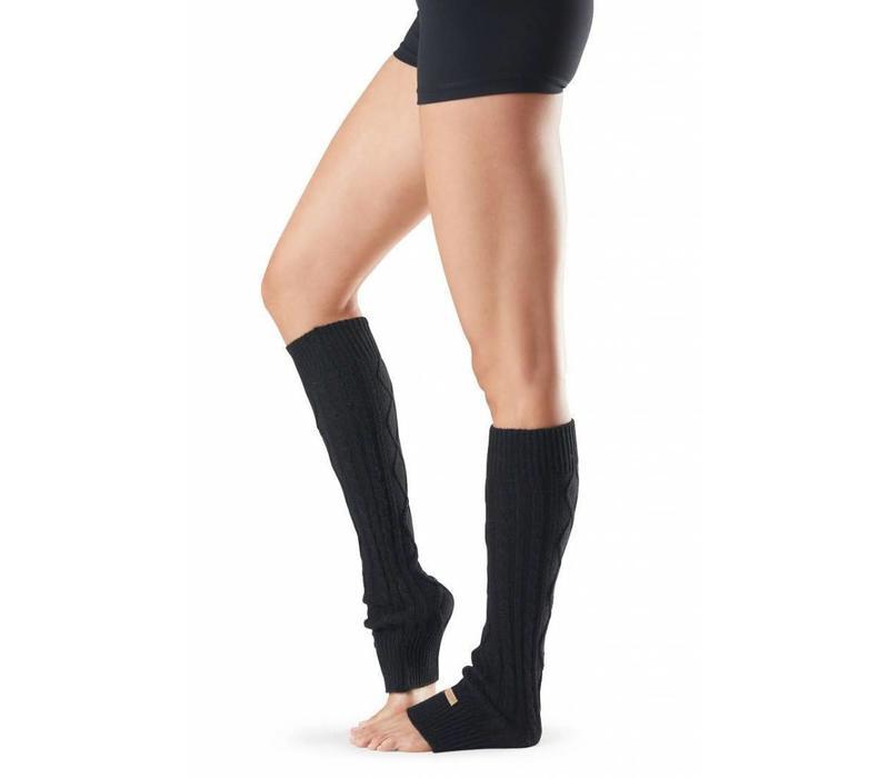 Toesox Beinwärmer Knee High - Schwarz