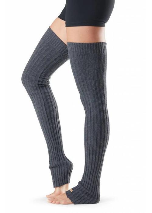 Toesox Toesox Beenwarmer Thigh High - Grijs
