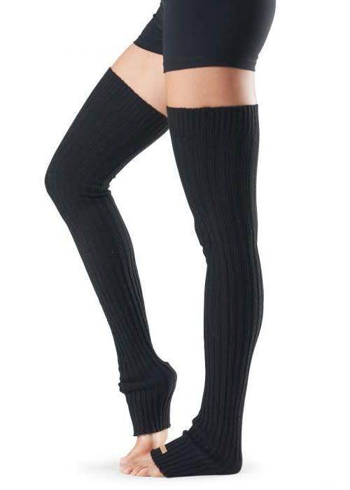 Toesox Toesox Beenwarmer Thigh High - Zwart