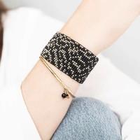 A Beautiful Story Autumn Gold Bracelet - Black Onyx