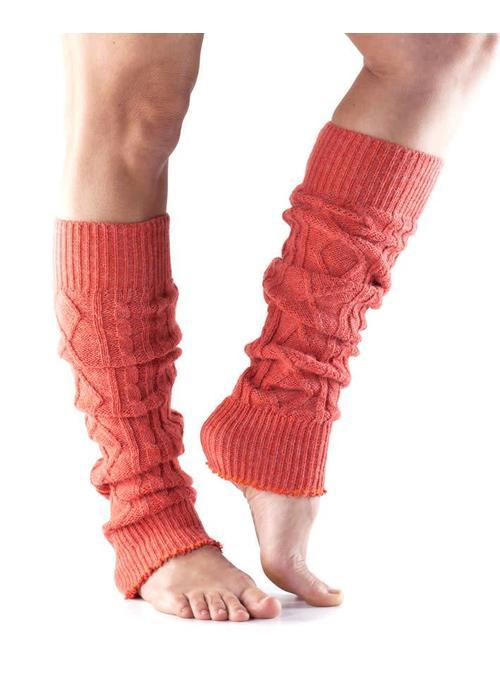 Toesox Toesox Leg Warmers - Coral