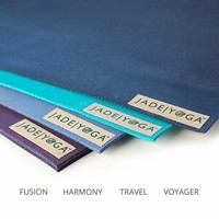 Jade Fusion Yoga Mat 188cm 60cm 8mm - Midnight Blue