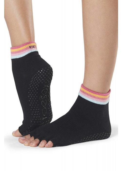 Toesox Toesox Yoga Sokken Enkelhoogte Open Tenen - Retro