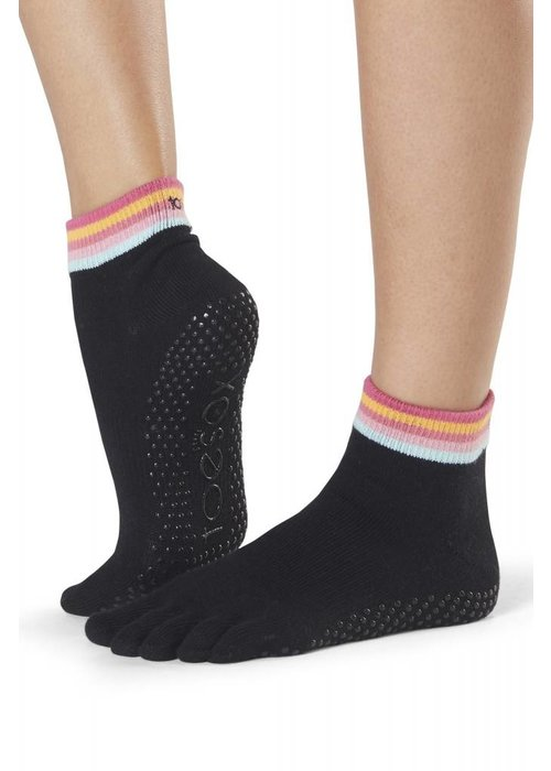 Toesox Toesox Yoga Sokken Enkelhoogte Dichte Tenen - Retro