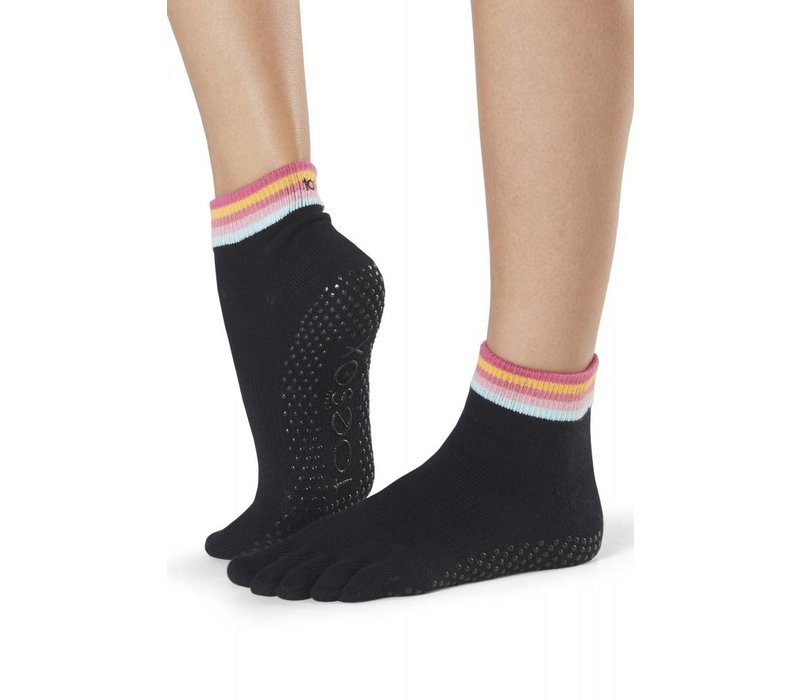 Toesox Ankle Full Toe - Retro