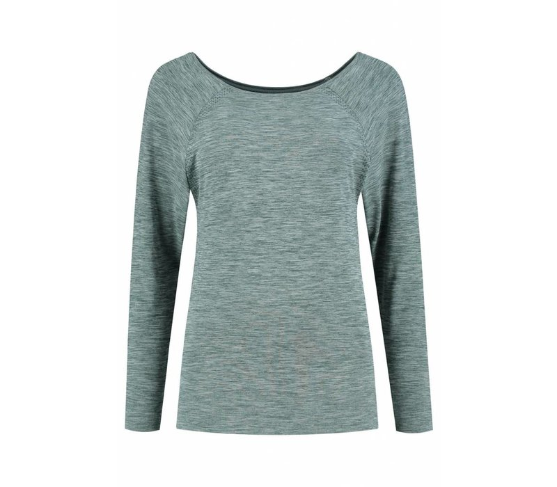 Tame The Bull Long Sleeve Yoga Shirt - Dark Green