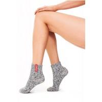 Soxs Soxs Women's Anti Slip Socks - Grey Green Knee High
