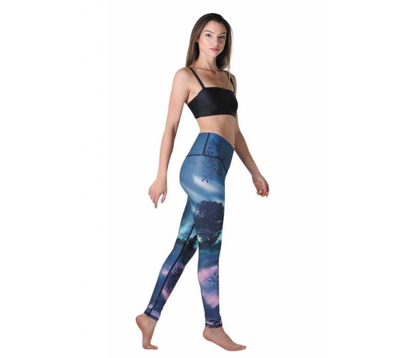 Yoga Democracy Yoga Legging - Northern Lights
