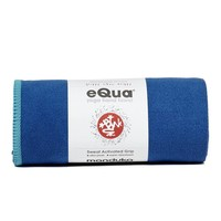 Manduka eQua Handdoek 40cm 67cm - Pacific Blue