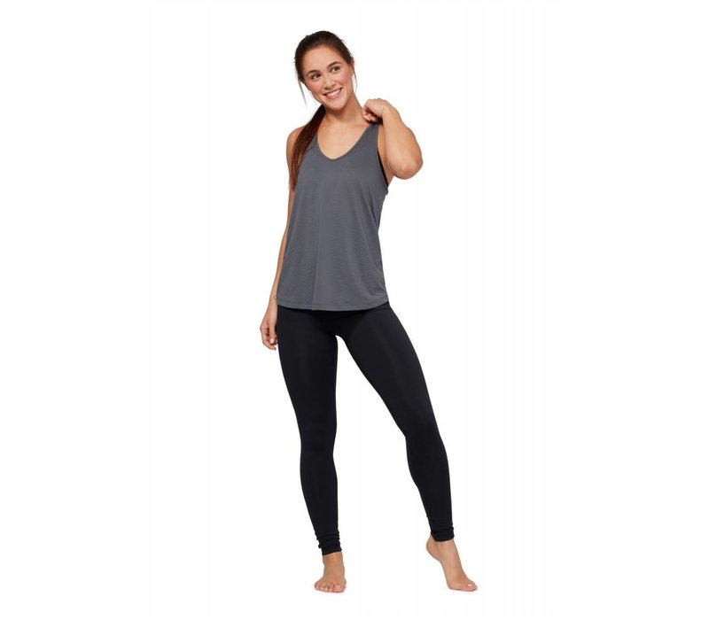 Manduka Breeze Racerback Tank - Charcoal