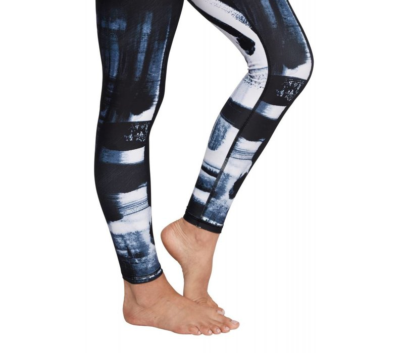 Manduka Brush Paint Legging - Multi Blue