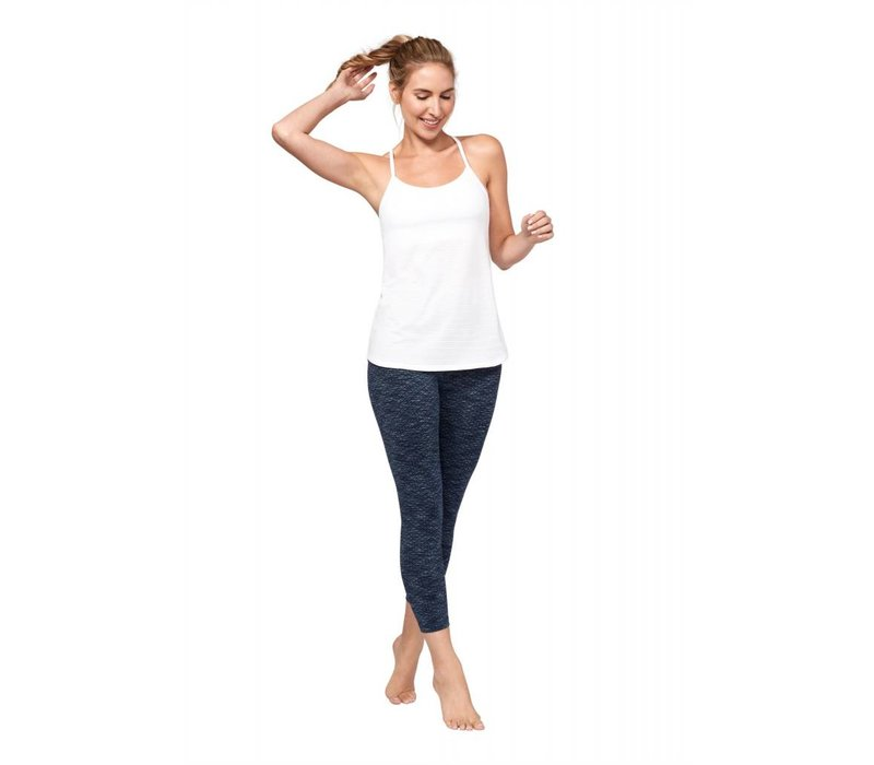 Manduka Essential Cropped Legging - Indigo Jacquard
