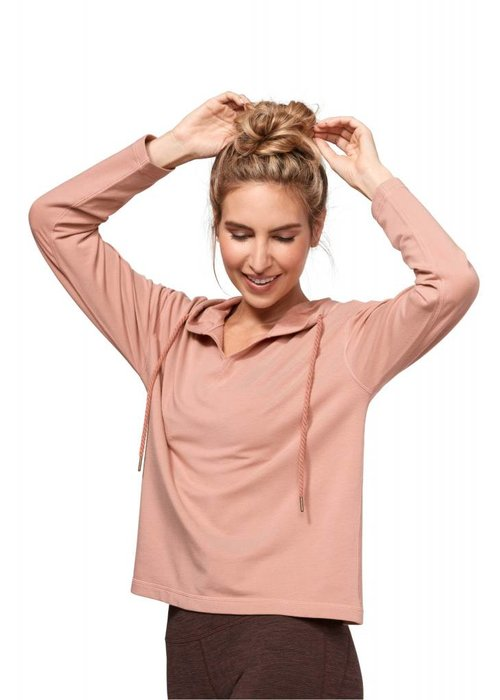 Manduka Manduka Resolution Hoodie - Dusty Rose