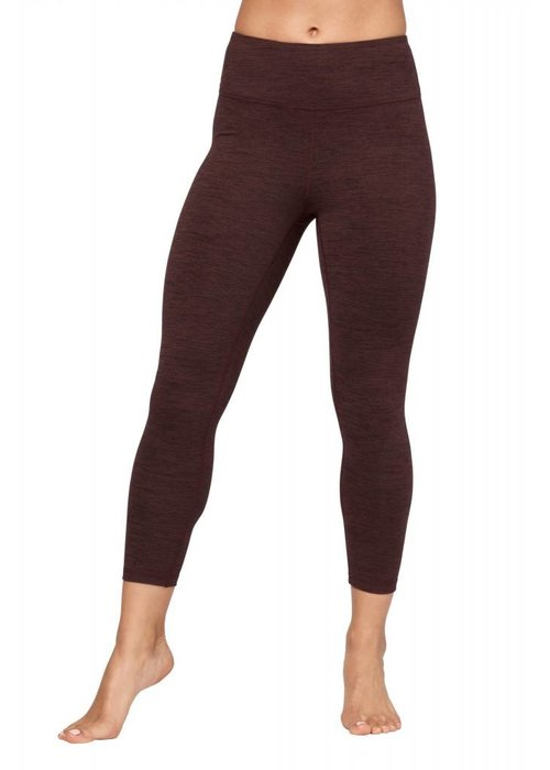 Manduka Manduka Essential Cropped Legging - Heather Fig
