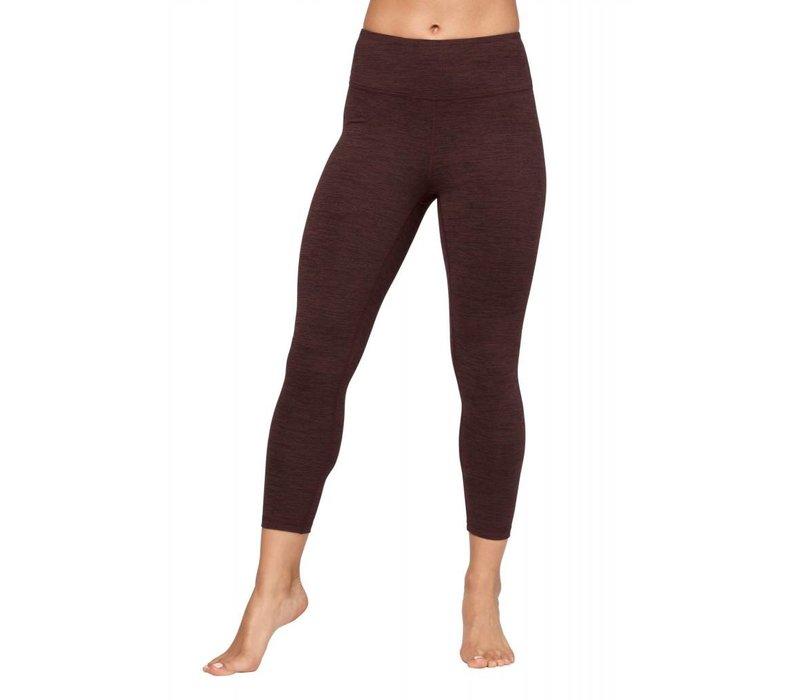 Manduka Essential Cropped Legging - Heather Fig