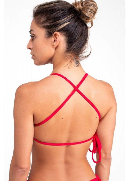 Shakti Activewear Shakti Activewear Cross Back Top - Rusty Red