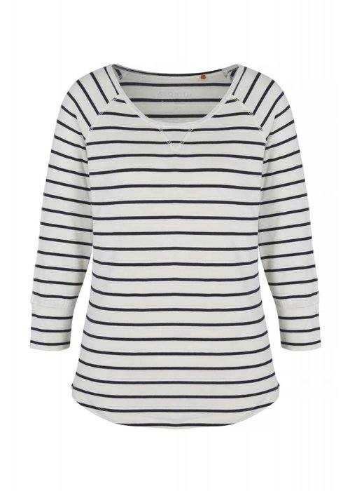 Asquith Asquith Boogie Tee - Navy/Ivory Stripe