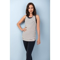Asquith Chi Racerback - Navy & Ivory Stripe