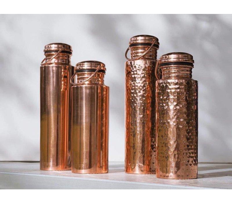 Ayur Copper Water Bottle 900ml - Hammered