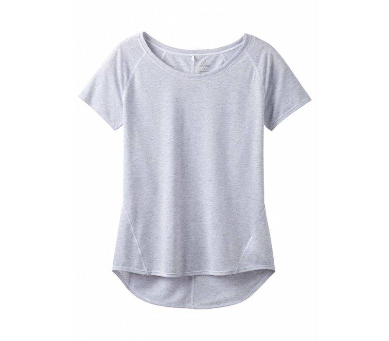 PrAna Iselle Short Sleeve - Silver Heather