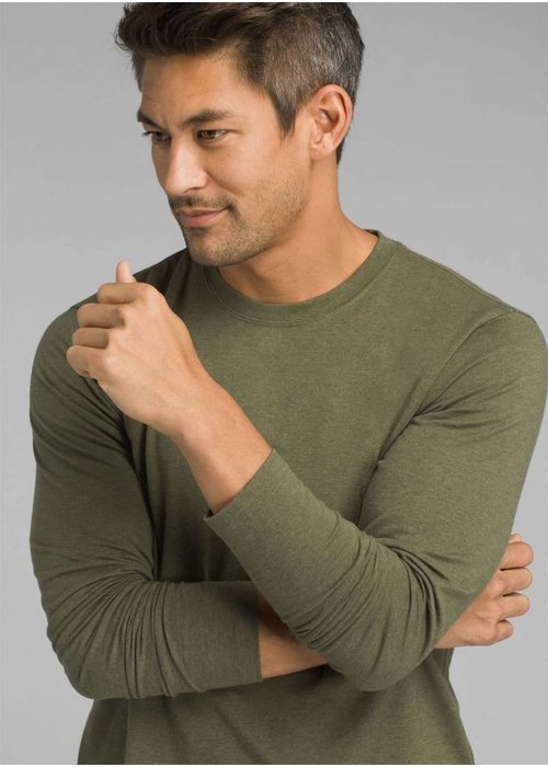 PrAna PrAna LS Crew - Cargo Green Heather