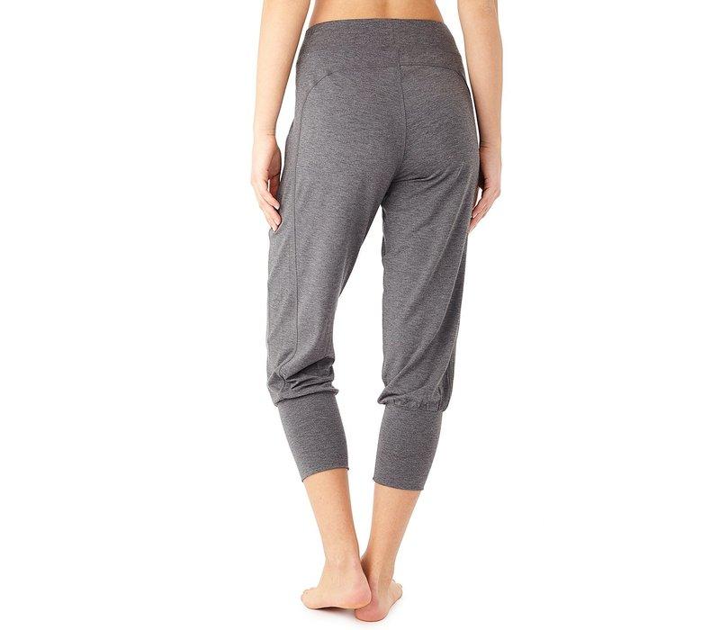 Mandala Cropped Pants - Grey Melange