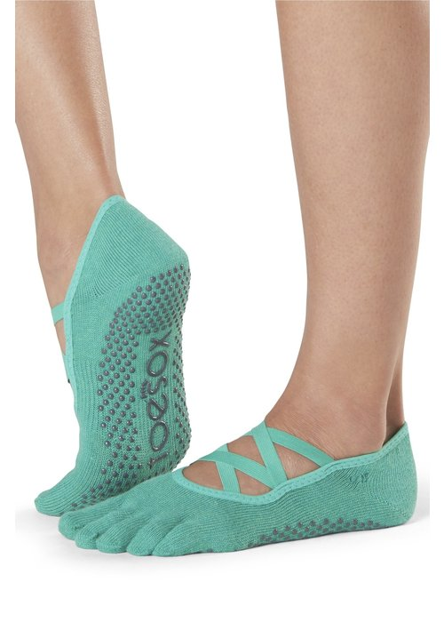 Toesox Toesox Yoga Sokken Elle Dichte Tenen - Emerald