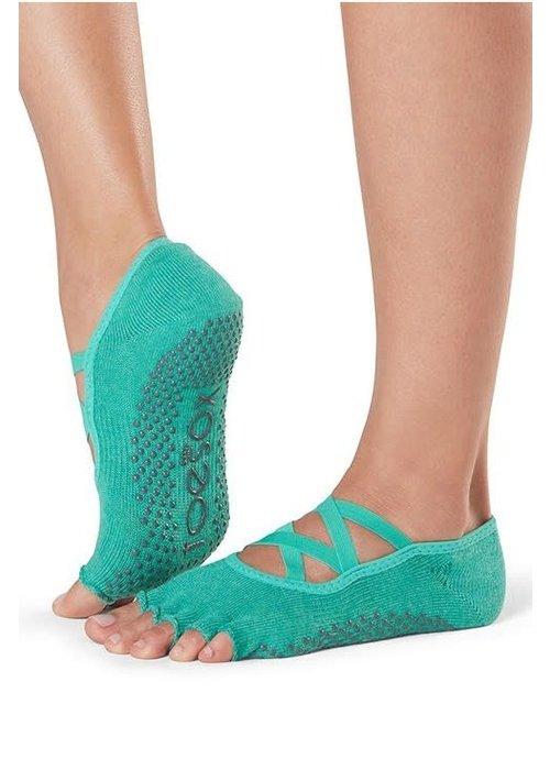 Toesox Toesox Yoga Sokken Elle Open Tenen - Emerald