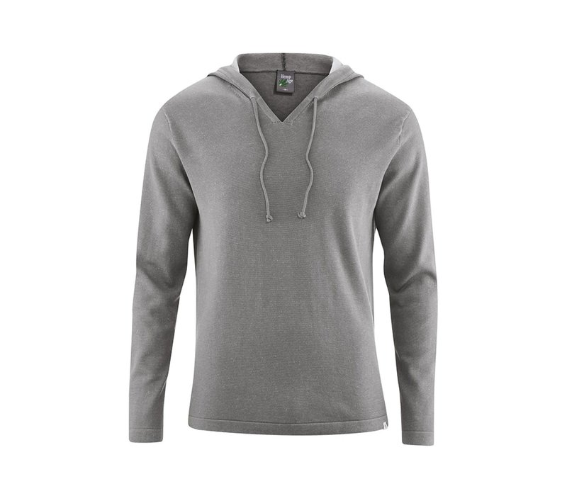 HempAge Knitted Hoodie - Taupe
