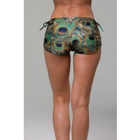 Onzie Side Tie Short - Peacock