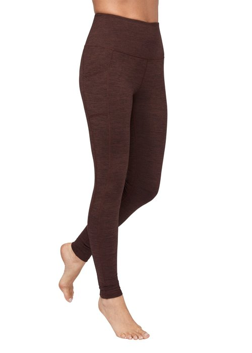Manduka Manduka Essential Pocket Legging - Heather Fig