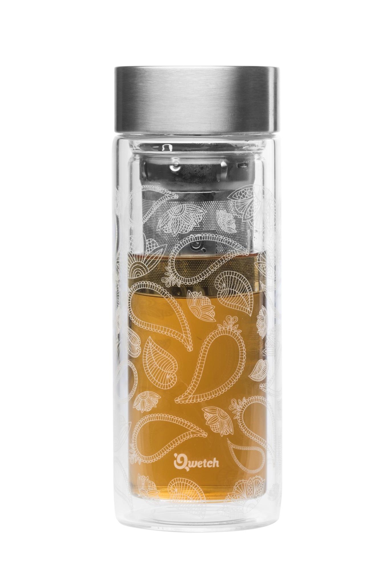 Thermos Glass Tea Travel Qwetch Paisley R4A35jL