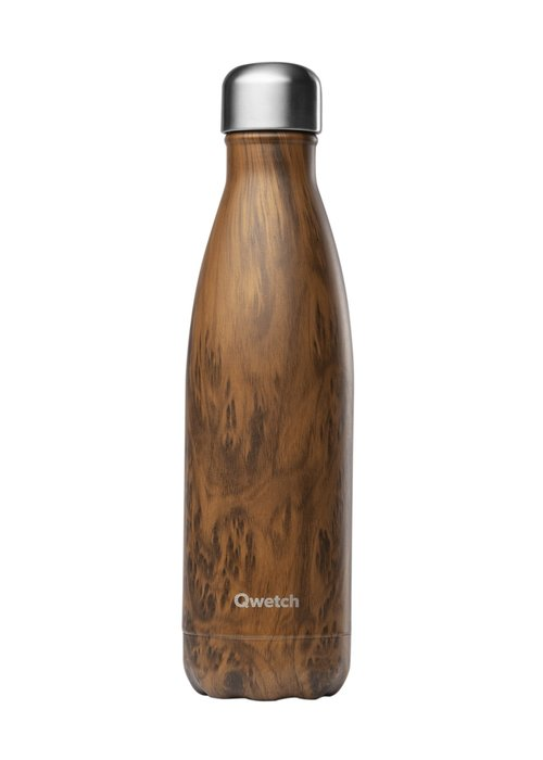 Qwetch Qwetch Insulated Bottle 500ml - Wood